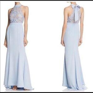 Jarlo Powder Blue Beautiful Halter Tie Gown